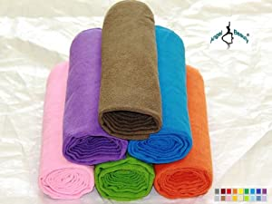 "AngelBeauty© Microfiber Extra Thickness Yoga Towel Mat-Size (24"" x 72"") With Carry Bag + Gift Box Avaliable in Multi Colors by Angelbeauty"