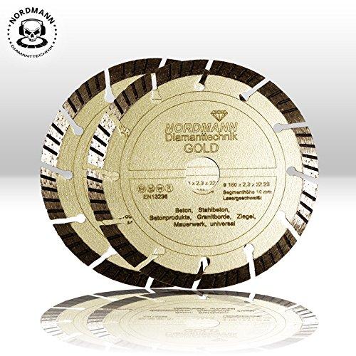 2x-NORDMANN-GOLD--150-mm-Diamanttrennscheiben-fr-BAIER-BDN-Diamantfrse-Schlitzfrse