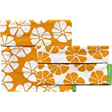 Lunchskins2 Multi-Pack Reusable Sandwich and Snack Bag, Yellow Lily, Set of 2