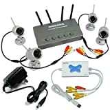 2.4G Weather-proof Wireless Security Camera System + 4 channel USB DVR with audio