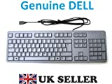 Genuine Original DELL USB QuietKey Dualtone Keyboard GREY , Model KB212 - PL , Nice and Slim , QWERTY UK Layout , with the