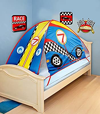 "75"" Race Car Mattress Bed Tent Topper (Fits Twin Beds)"