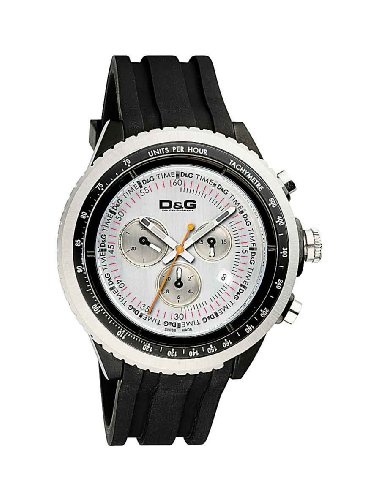 Dolce & Gabbana W0380 - Reloj de mujer de cuarzo, correa de acero inoxidable color negro|D&G Dolce&Gabbana Herren-Armbanduhr DW0380