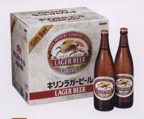 キリン ラガービール 633ml大瓶×12本ギフトセット KRLB12