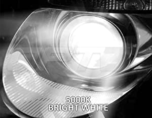 5000K Pure White Xenon Light All Bulb Colors and Sizes 2 Yr Warranty 5x Brighter 6x Longer Life OPT7 Bolt AC 55w H1 High Beam HID Kit