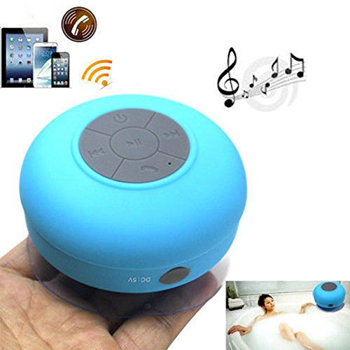 Brand New Waterproof Wireless Bluetooth Shower Speaker Handsfree Speakerphone Compatible With All Bluetooth Devices Iphone 5S And All Android Devices Blue