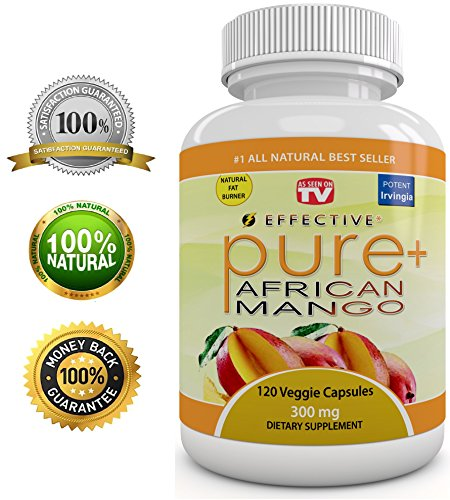 "Effective African Mango Extract - As Seen On Tv - Plus Raspberry Ketones + Green Tea Extract- Fat Burn Formula! - 7200 Mg Daily - ""Pure"" Irvingia Gabonesis - Plus Appetite Suppressant - Max Fat Burner! - No Diet Or Exercise - Same Day Shipping - 100% Life"