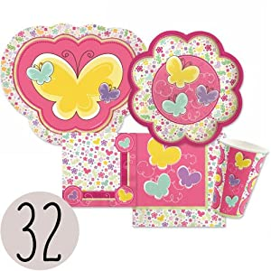 Playful Butterfly and Flowers Bundle for 32