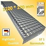 Gitterroststufe 1100 * 270 mm - Gitte...