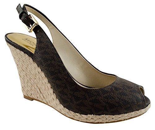 Michael Kors Women'S Keegan Sling Wedge Heel Peep Toe Shoes-B-7M front-922533