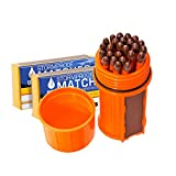 Bundle - 2 Items: UCO Match Container Kit with 75 UCO Stormproof Matches - Waterproof & Windproof (Orange)
