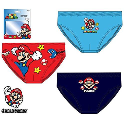 Nintendo Super Mario-Slip Confezione Da 3 Red 3 anni