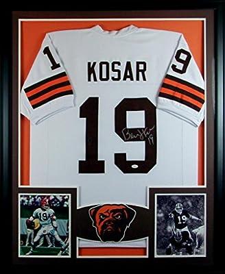 Bernie Kosar Framed Jersey Signed JSA COA Autographed Cleveland Browns