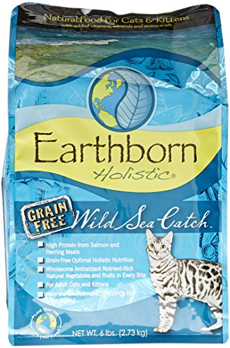 Earthborn Holistic 5-Pack Wild Sea Catch Grain-Free Dry Cat Food, 6-Pound