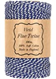 Bakers Twine 100m Blue and White
