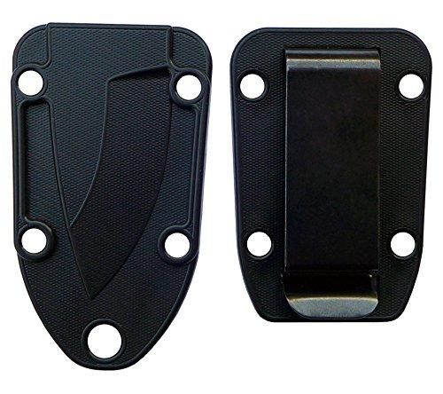 Esee Knives Molded Sheath And Belt Clip Plate (Black) For Candiru Knife