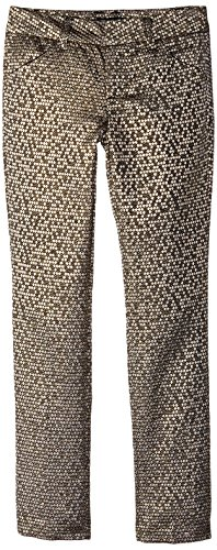 My Michelle Big Girls' Jaquard Pant with Front Pockets, Gold, 12