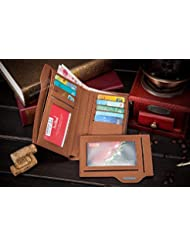 IndiRocks Men Wallet Coin Wallet 16 Bogesi Brand Men's Leather Wallet With Zipper Man Purse Removable Credit Card...