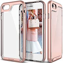 iPhone 7 Case, Caseology [Skyfall Series] Transparent Clear Enhanced Grip [Rose Gold] [Slim Cushion] for Apple iPhone 7 (2016)