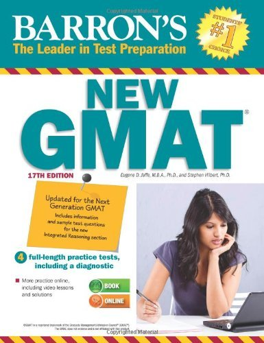 Barron's New GMAT with CD-Rom 17th Edition 2015