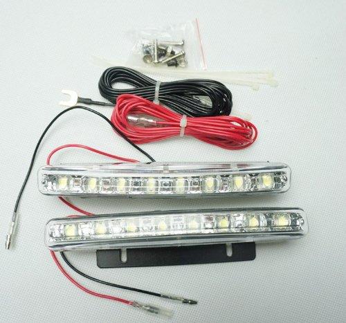 Newsun High Power Universal Led Daytime Running Light Drl For Cars Waterproof 8 Leds Universal Car Light Led Fog Lights