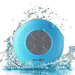 Essot Splash Proof Portable Bluetooth Shower Speaker with Suction & Inbuilt MIC(Blue)