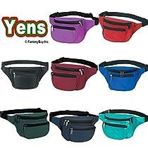 Yens® Fantasybag 3-Zipper Fanny Pack-Purple FN-03