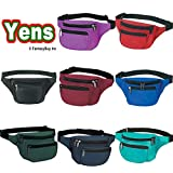 Yens� Fantasybag 3-Zipper Fanny Pack-Black, FN-03 ~ Yens�