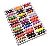 【YAS TRADING】 裁縫 手芸 刺繍 用 常備糸【 39色セット】 ミシン糸