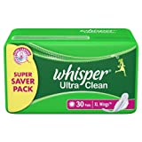 Whisper Ultra Clean, XL Wings, 30 Pads
