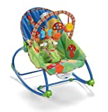 Fisher-Price Infant-To-Toddler Rocker Features Two Position Recline & Kickstand - Bug Friend