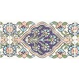ニトムズ インテリアマスキングテープ 幅5cm×長さ8m巻き タイル/ブルー M3600