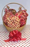 Scott's Cakes Large Valentines Day Cookie Lovers Basket with Handle Heart Wrapping