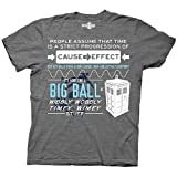 Doctor Who Dr Wibbly Wobbly Timey Quote Mens Heathered Grey T-shirt M