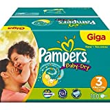 Pampers Nappies Baby Dry Size 3 Giga Pack Midi 180