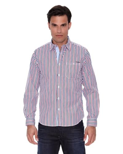 Pepe Jeans London Camisa Mayfair Azul / Rojo / Blanco