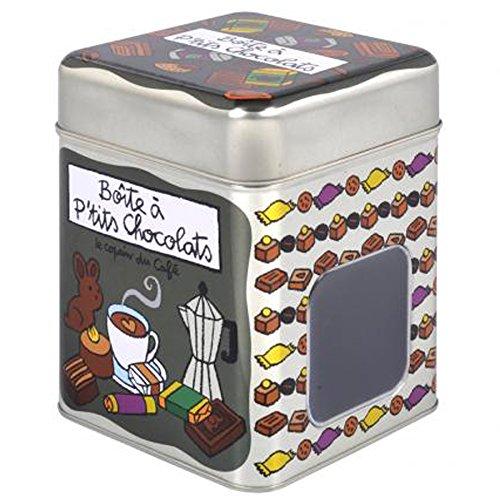 Bote-Hermtique--Petits-Chocolats-LE-COPAIN-DU-CAF-en-Mtal-Dlp-Derrire-La-Porte