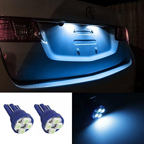 Partsam 2Xt10 168 194 2825 4-3528-Smd Ice Blue Led For License Plate Lights Bulbs For 2007-2012 Hyundai Veracruz