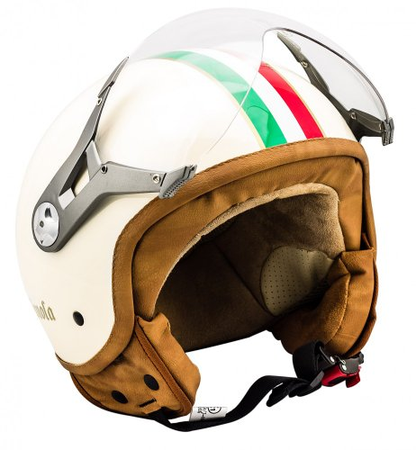 SOXON SP-325 Imola - ITALY Jethelm Jet Roller Vespa Helm Motorradhelm creme Gr. XL