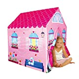 Cottage Playhouse Girl City House Kids Secret Garden Pink Play Tent by PTLF (Color: Pink)