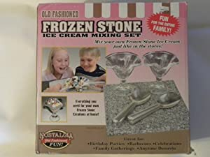 Nostalgia Electrics Frozen Ice Cream Mixing Stone Kit- FSI-560