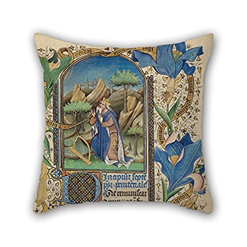 Happy Festival Master Of Guillebert De Mets (Flemish Active About 1410 1450) David In Prayer Throw Pillow Case 16 X 16 Inches 40 By 40 Cm For Bf Home Teens Relatives Teens Girls For Home (Dresser Knobs Mets compare prices)