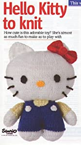 Hello Kitty Toy Knitting Pattern: Measurements 7