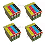 16 Inks (4x T1281 4x T1282 4x T1283 4x T1284) Multipack 4 full Set T1285 printing Ink Cartridges compatible for epson stylus S22 SX125 SX130 SX230 SX235W SX420W SX425W SX430W SX435W SX438W SX440W SX445W & OFFICE BX305F BX305FW Plus printers