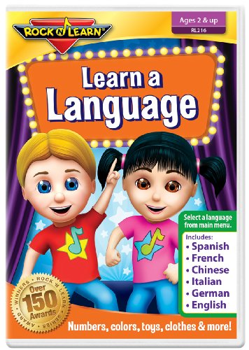 Learn A Language: Numbers, Colors & More (Spanish, French, Chinese, Italian, German & English) (English, Spanish, French, Italian, German and Chinese Edition)