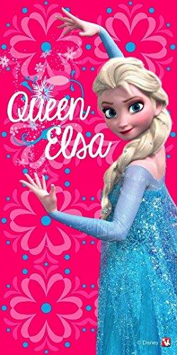 Frozen / Die Eiskönigin - Badetuch / Strandtuch - Motiv: Queen Elsa - 70x140 cm - 100% Baumwolle nach Öko Tex - Standard 100 - Disney - Handtuch