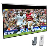 "120"" Electric Motorised HD Projector Screen 16:9 Glass Bead with Remote Control"