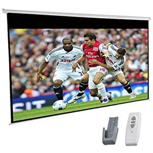 """120"""" Inch Electric Motorised HD Projector Screen +Remote 16:9 Glass Bead"""
