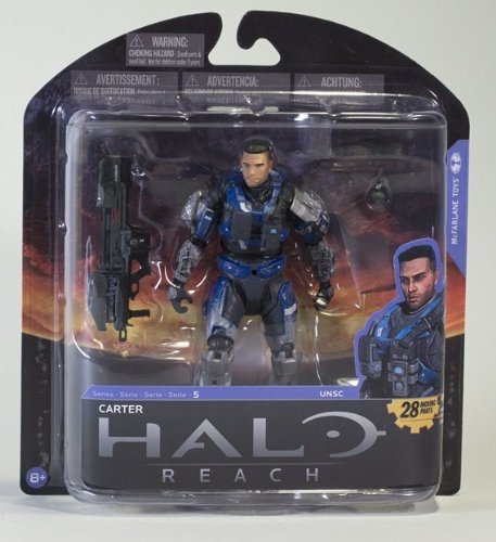 Halo Reach Series 5 6 Inch Scale Carter - Unhelmeted With Spartan Laser & Frag Grenade Action Figure (Halo Reach Spartan Action Figures compare prices)