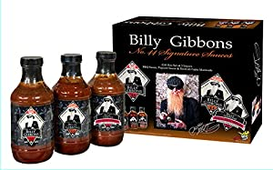 BFG Sauces - Billy Gibbons No.44 Signature Sauce Gift Set, - BBQ Sauce, Piquant Sauce and TexiCali Fajita Marinade (Classic Variety Gift Set, 3 Large16oz Bottles)